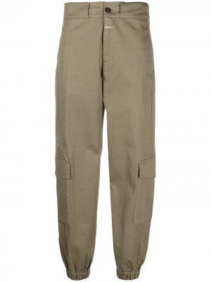 Зауженные брюки карго Closed. Цвет: зеленый