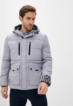 Куртка утепленная Zolla. Цвет: серый