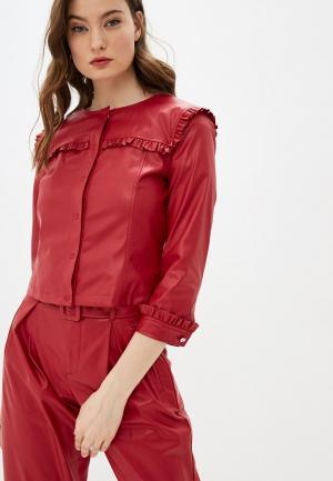 Куртка кожаная Liu Jo. Цвет: красный