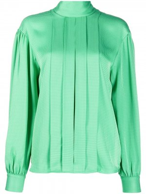 Блузка в ломаную клетку MSGM. Цвет: зеленый