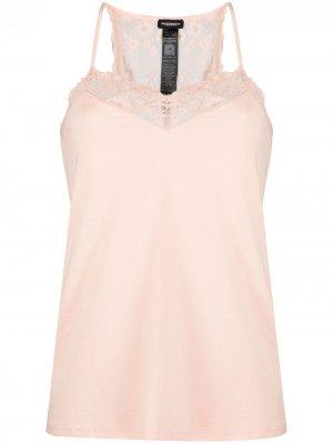 Пижама с кружевной отделкой Emporio Armani. Цвет: розовый