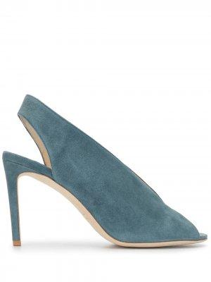 Туфли-лодочки на шпильке с открытым носком Luisa Beccaria. Цвет: синий