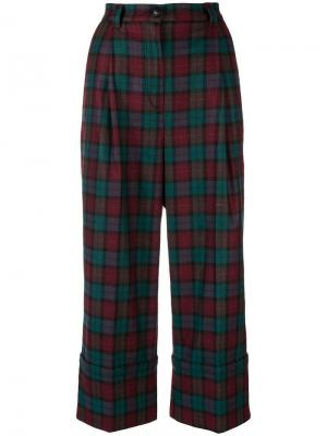 Plaid cropped trousers I'M Isola Marras. Цвет: красный