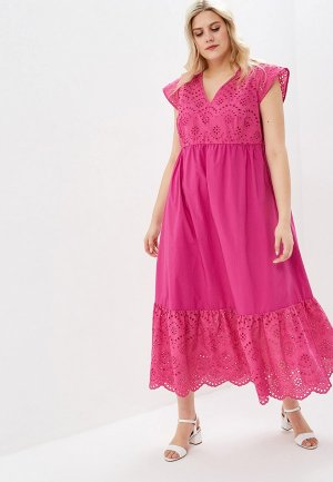 Платье Persona by Marina Rinaldi. Цвет: розовый
