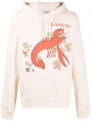 Babar print hooded sweatshirt LANVIN. Цвет: нейтральные цвета