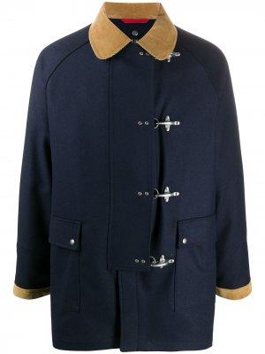 Дафлкот с карманами Fay. Цвет: синий