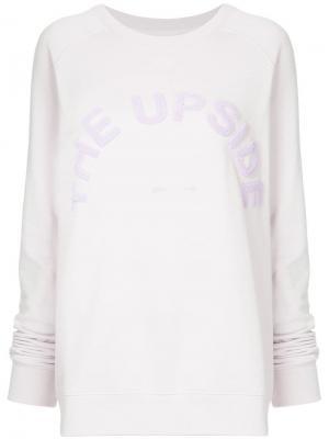 Свитшот с логотипом The Upside. Цвет: розовый