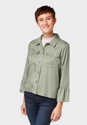 Блуза Tom Tailor Denim. Цвет: хаки