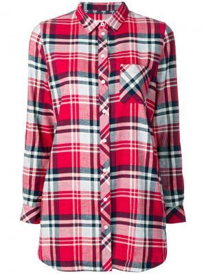 Рубашка в клетку Barbour. Цвет: красный