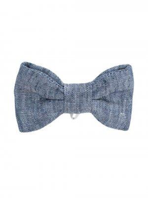 Меланжевый галстук-бабочка Il Gufo. Цвет: синий
