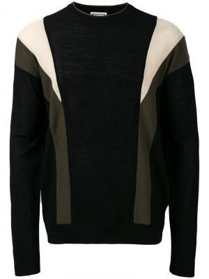 Colour block sweater Wooyoungmi. Цвет: черный