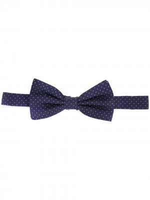 Жаккардовый галстук-бабочка с узором Eredi Chiarini. Цвет: синий