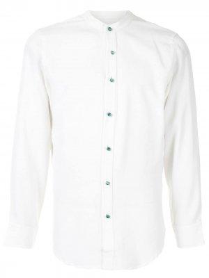Рубашка с воротником-стойкой Lisa Von Tang. Цвет: белый