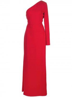 Платье на одно плечо Carolina Herrera. Цвет: красный
