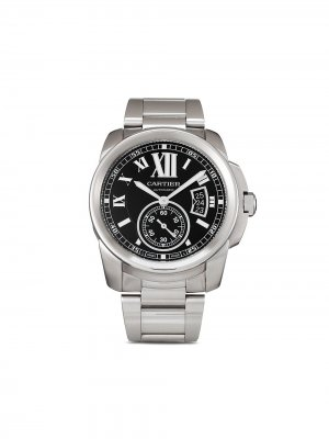Наручные часы Calibre de  pre-owned 42 мм Cartier. Цвет: черный