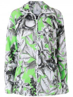 Куртка с принтом Eva. Цвет: серый
