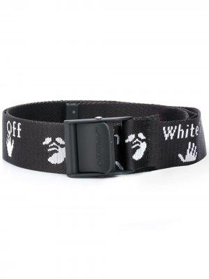 Ремень с логотипом Off-White. Цвет: черный