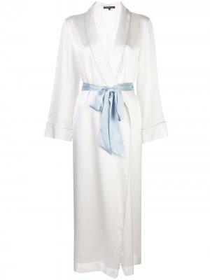 Халат с поясом Kiki de Montparnasse. Цвет: белый