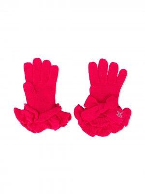 Перчатки с оборками Monnalisa. Цвет: розовый