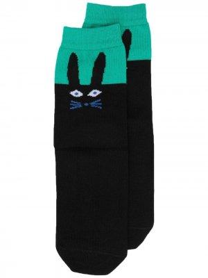 Носки с принтом PS Paul Smith. Цвет: черный