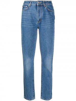 Зауженные джинсы Tara Fiorucci. Цвет: синий