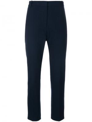 Классические укороченные брюки Joseph. Цвет: синий
