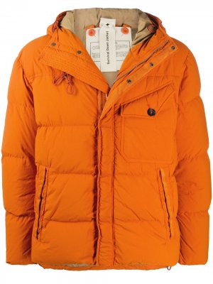 Пуховик с капюшоном Ten C. Цвет: оранжевый