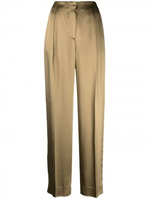 Прямые брюки Lardini. Цвет: зеленый