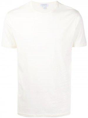Легкая футболка с круглым вырезом Sunspel. Цвет: желтый