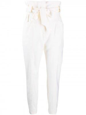 Зауженные брюки с завышенной талией IRO. Цвет: нейтральные цвета