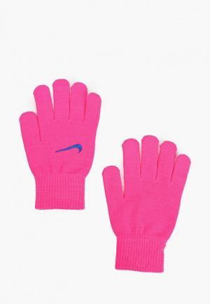 Перчатки Nike. Цвет: розовый