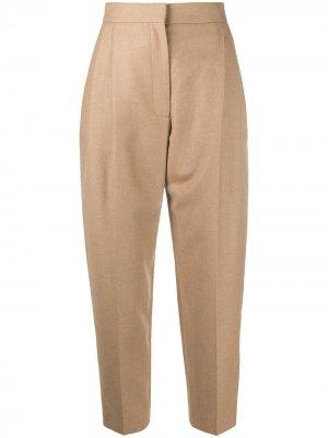 Зауженные брюки с завышенной талией Alexander McQueen. Цвет: нейтральные цвета