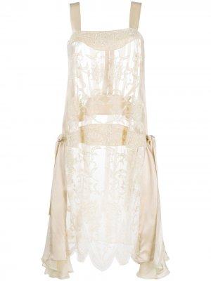 Платье с отделкой бусинами Antonio Marras. Цвет: нейтральные цвета