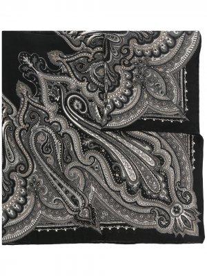 Платок с принтом пейсли Destin. Цвет: черный