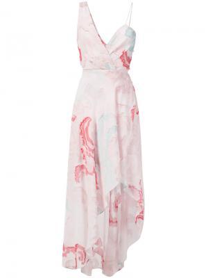 Асимметричное платье Yigal Azrouel. Цвет: розовый