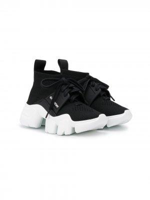 Массивные кроссовки-носки с логотипом Givenchy Kids. Цвет: черный