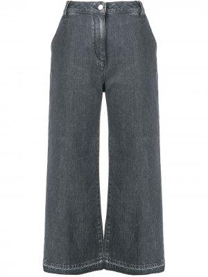 Расклешенные брюки Fabiana Filippi. Цвет: серый