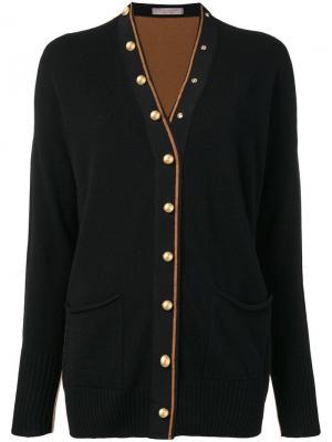 Panelled cardigan D.Exterior. Цвет: черный