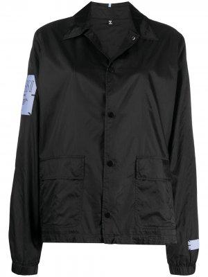 Спортивная куртка с надписью MCQ. Цвет: черный