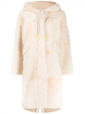 Пальто оверсайз с капюшоном Liska. Цвет: нейтральные цвета