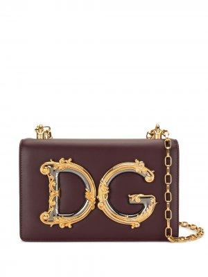 Сумка на плечо с аппликацией DG Dolce & Gabbana. Цвет: фиолетовый