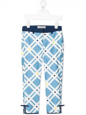 Узкие брюки в клетку Simonetta. Цвет: синий