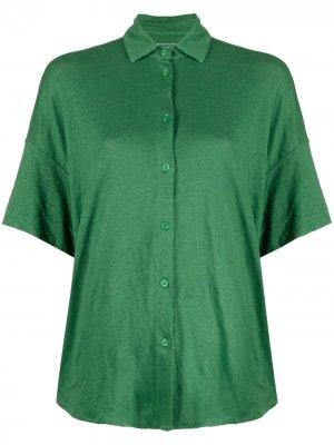 Рубашка с приспущенными плечами Majestic Filatures. Цвет: зеленый