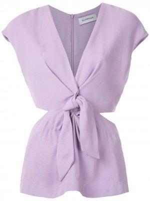 Блузка Magnolia с узлом спереди Olympiah. Цвет: фиолетовый