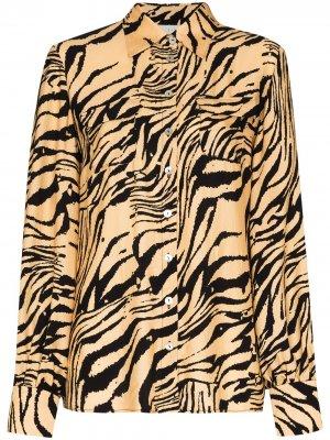Рубашка Jacquetta с тигровым принтом USISI SISTER. Цвет: желтый