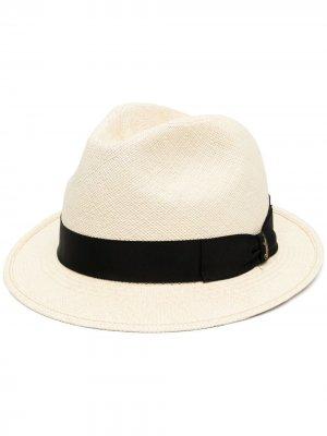 Шляпа-трилби с бантом Borsalino. Цвет: нейтральные цвета