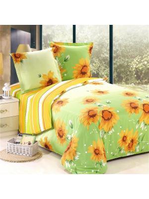 Постельное белье Leto 1,5 сп. Amore Mio. Цвет: зеленый, желтый