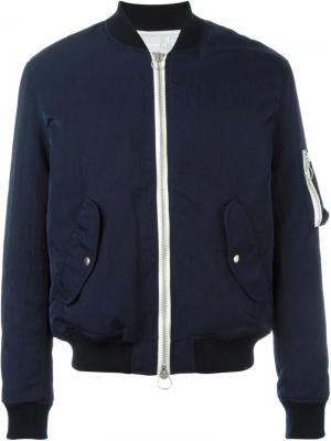 Куртка-бомбер Thomasson Soulland. Цвет: синий