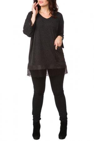 Блузка Amelia lux. Цвет: черный