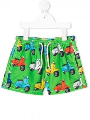 Плавки-шорты с принтом Mc2 Saint Barth. Цвет: зеленый